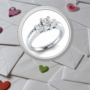 3 Ct Princess Cut White Sapphires in .925 SS Ring